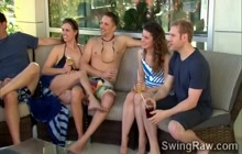 Couples switching partners in reality show
