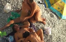 Wife swapping at the beach