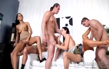 Awesome group sex by horny swingers