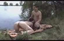 Amateur swingers get wild in nature
